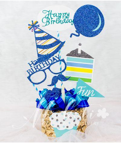 Happy Birthday Banner with Dutch Chocolate