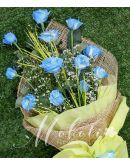 1 Dozen Blue Rose Spray (Arm Bouquet)