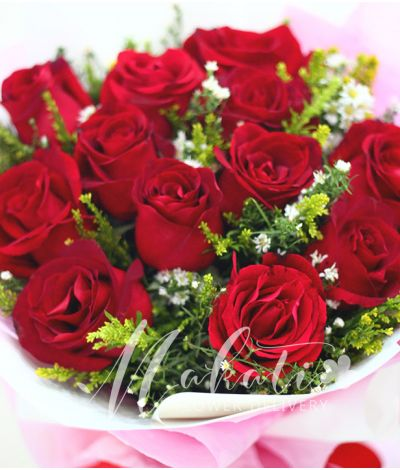 1 Dozen Imported Red Roses