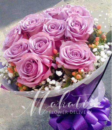 1 Dozen Lavender Ecuadorian Roses