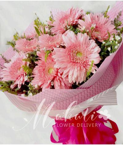 1 Dozen Pink Gerberas