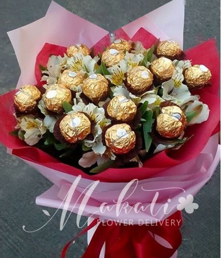 Ferrero with Alstroemeria