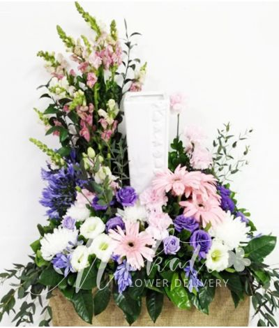 Beautiful Mixed Color Urn Flower Arrangement