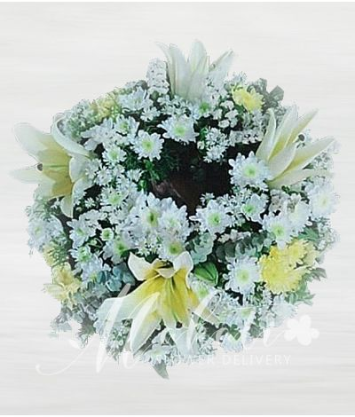 Purity Urn Flower Arrangement