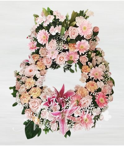 Sincerity Pink Urn Flower Arrangement
